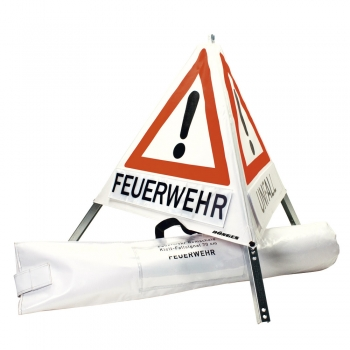 Dönges Klett-Faltsignal, 700 mm, Tagesleuchtfarbe, 3 x Feuerwehr